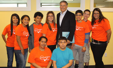 Jay Inslee with some OneAmerica Votes youth